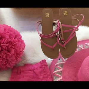 NY&Co pink Strap Sandals
